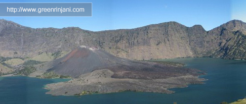 Lake of mount Rinjani Lombok